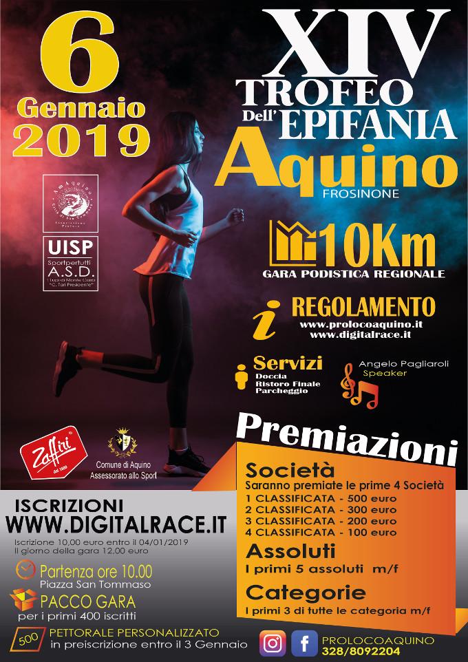 Calendario Gare Podistiche Lazio.Aquino Gara Podistica Trofeo Dell Epifania 2019