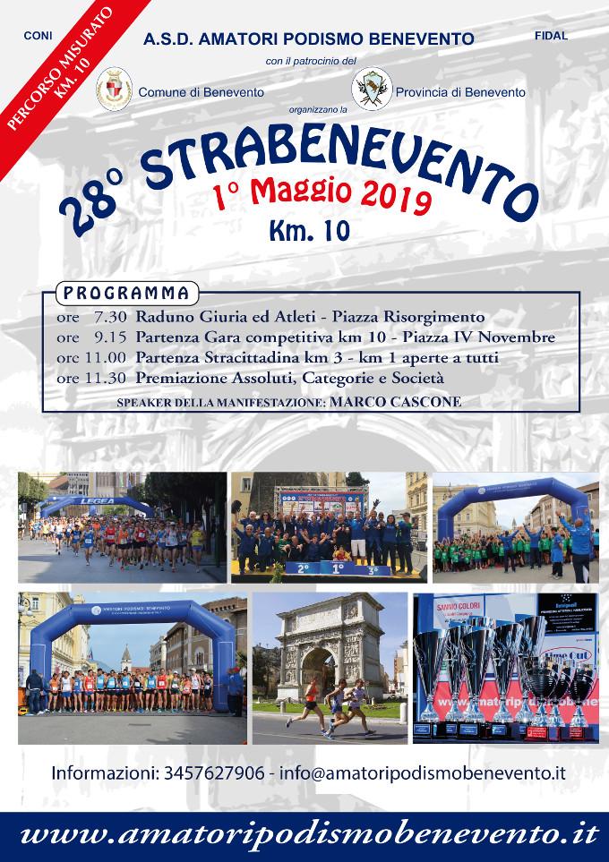 Strabenevento 2019 gara podistica di Benevento