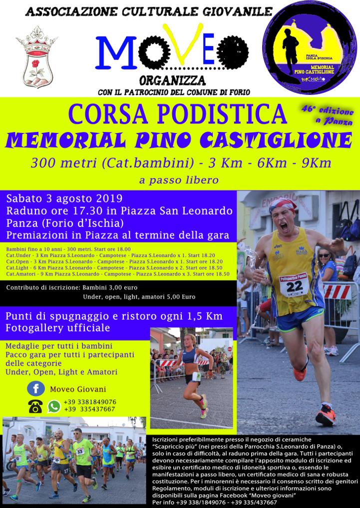 Calendario Delle Prossime Gare Di Podismo.Panza Forio D Ischia Corsa Memorial Pino Castiglione 2019
