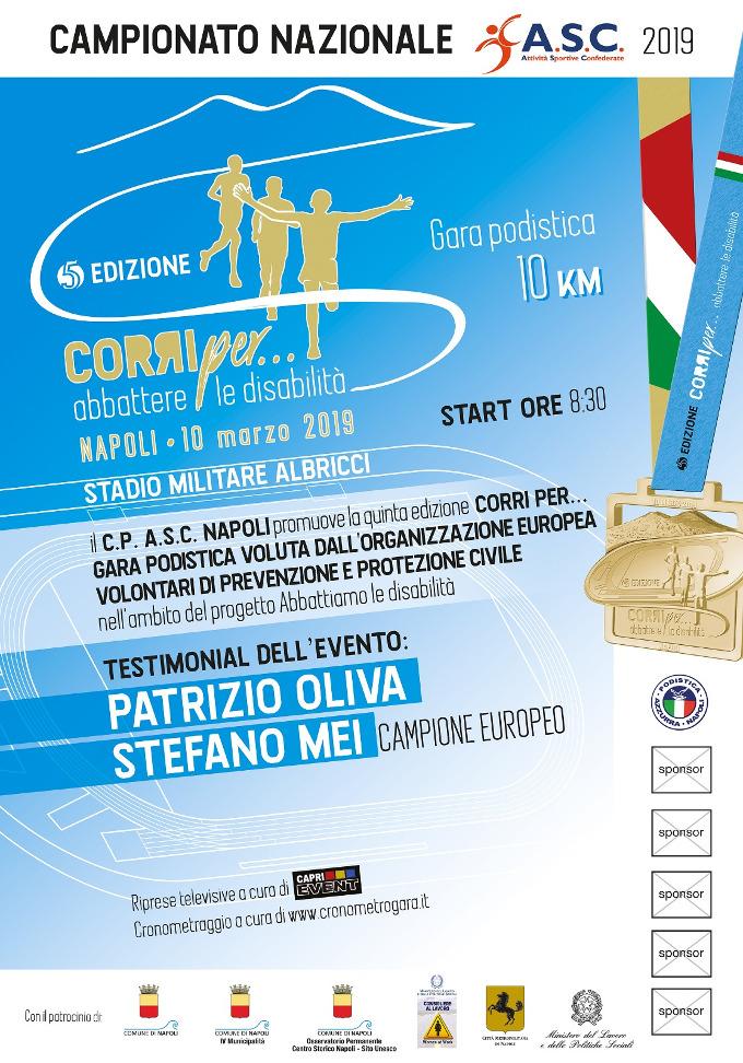 Corri per disabilità 2019 gara podistica di Napoli