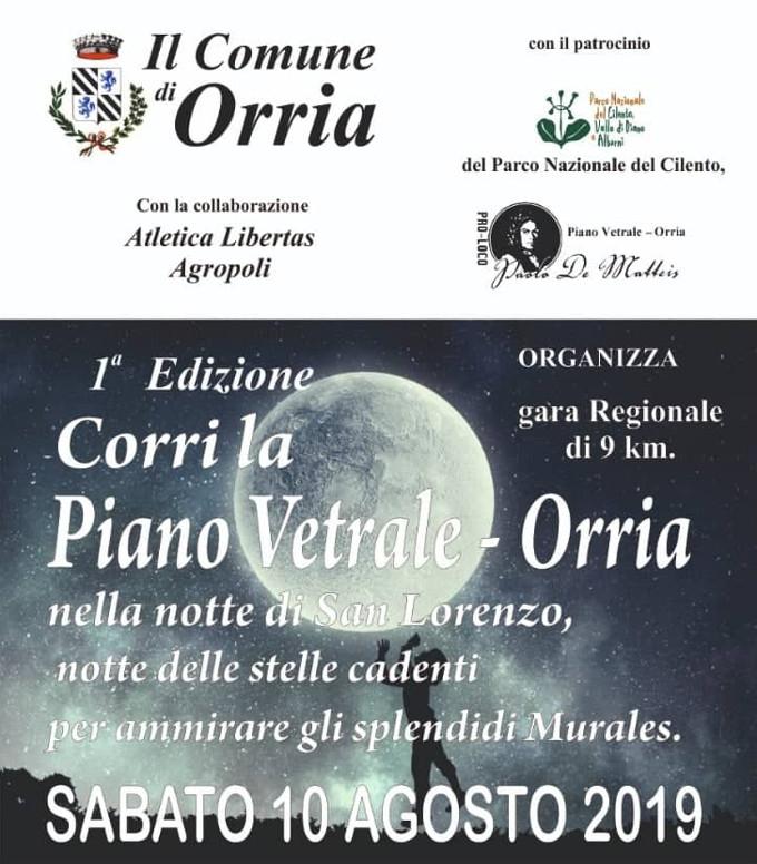 Corri la Piano Vetrale 2019 gara Orria