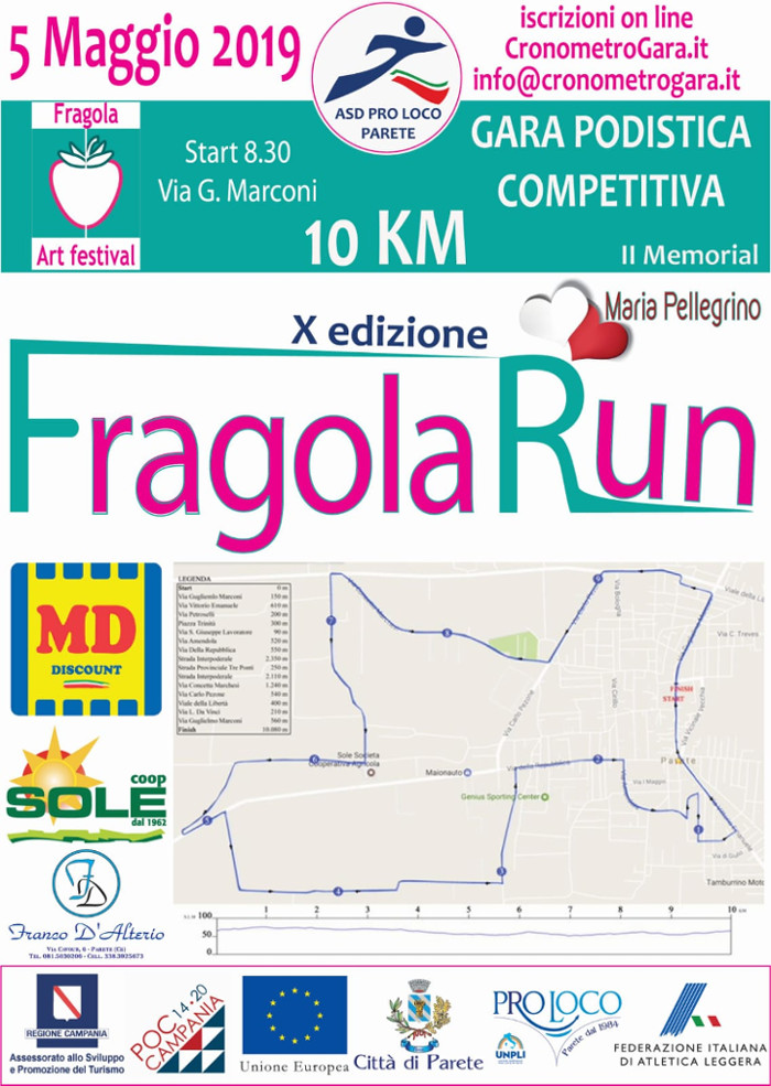 Fragola Run 2019 gara di Parete