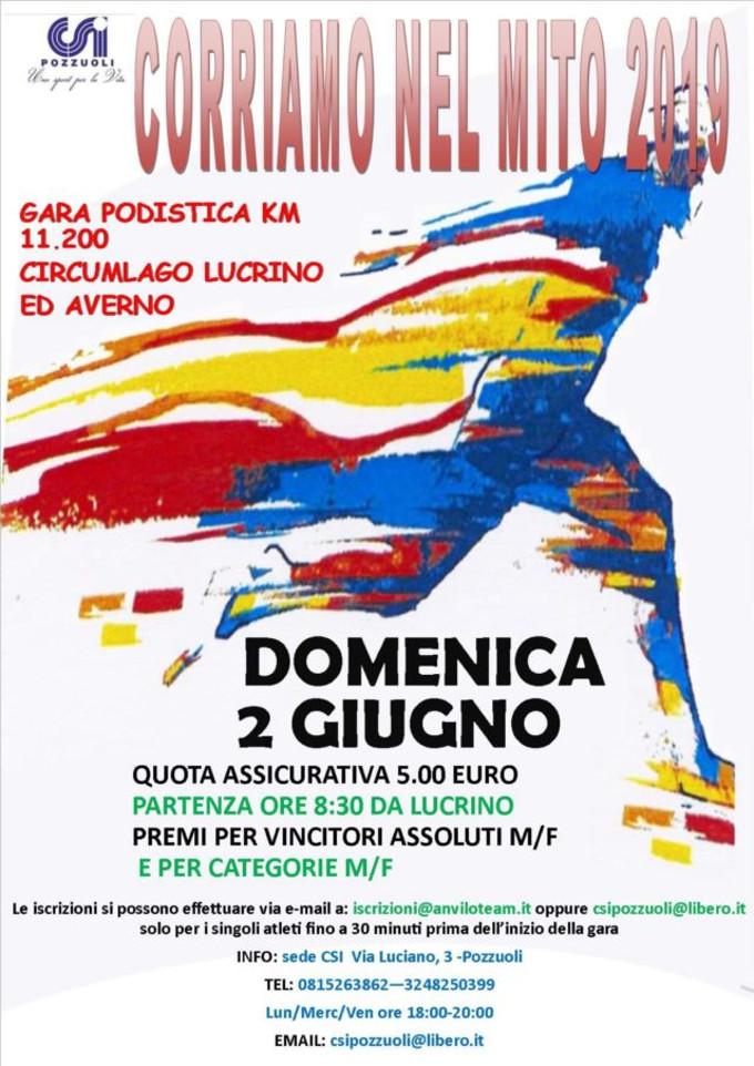 Corriamo nel mito 2019 Lago Lucrino e Averno
