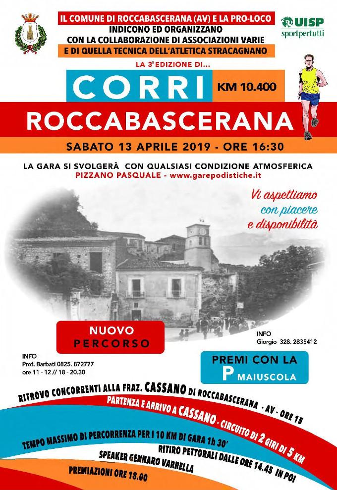 Regolamento Corri Roccabascerana 2019 gara podistica