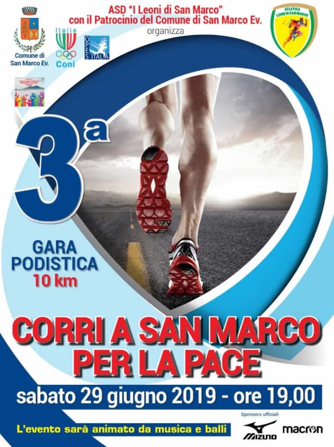 Corri a San Marco Evangelista per la pace 2019 gara