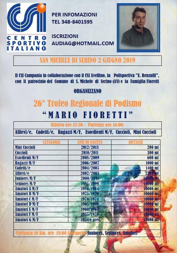 Calendario Delle Prossime Gare Di Podismo.San Michele Di Serino Gara Podistica Trofeo Podismo Fioretti