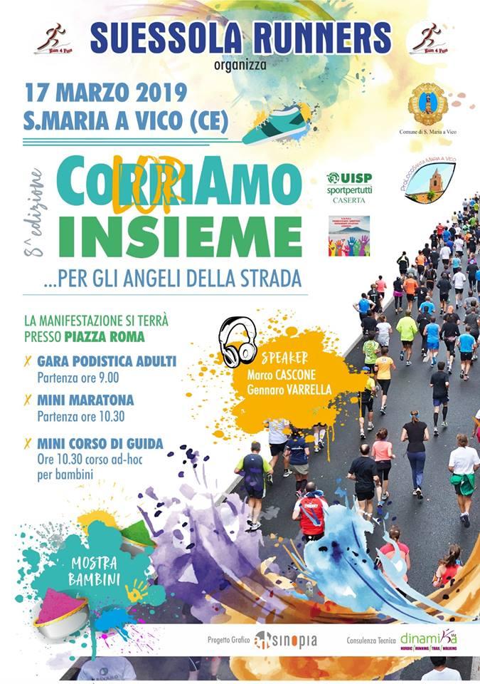 CorriAmo insieme contro diabete anno 2019 Santa Maria a Vico