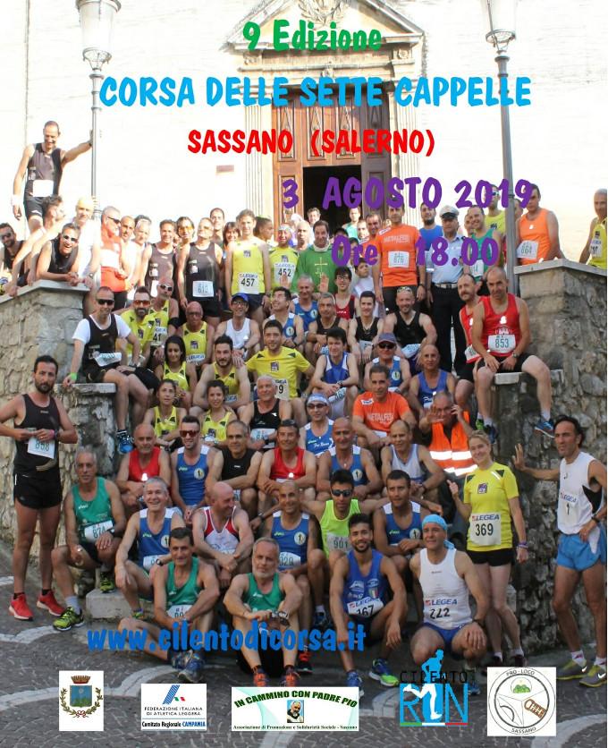 Corsa podistica delle Sette Cappelle 2019 gara di Sassano